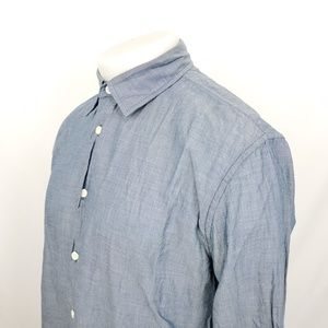 John Varvatos Star USA Button Front Shirt Medium